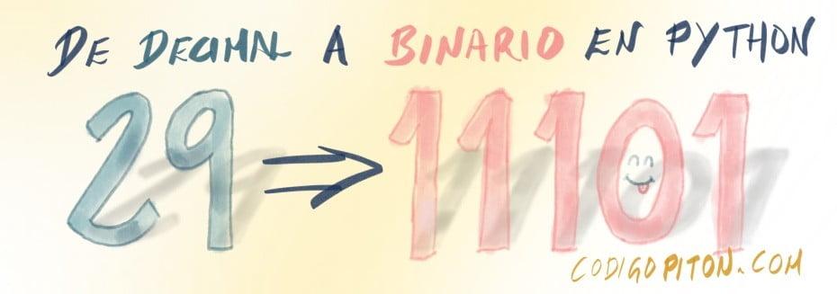 Cómo convertir de decimal a binario en Python